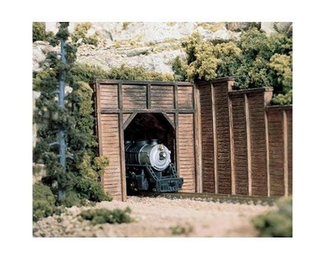 Woodland Scenics N Single Tunnel Portal, Timber (2)