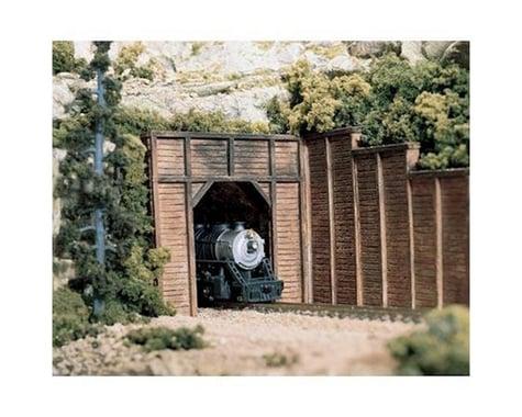 Woodland Scenics HO Single Tunnel Portal, Timber