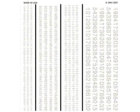 Woodland Scenics Railroad Gothic Numbers, White