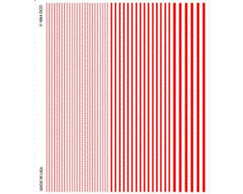 Woodland Scenics Stripes, Red