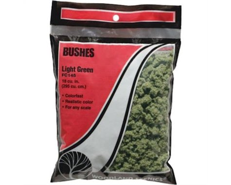 Woodland Scenics Bushes Bag, Light Green/18 cu. in.