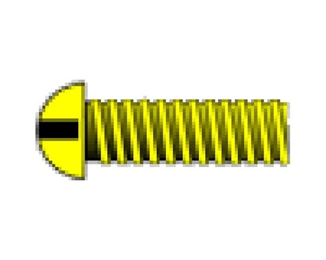 "Woodland Scenics 00-90 1/4"" Round Head Machine Screw (5)"