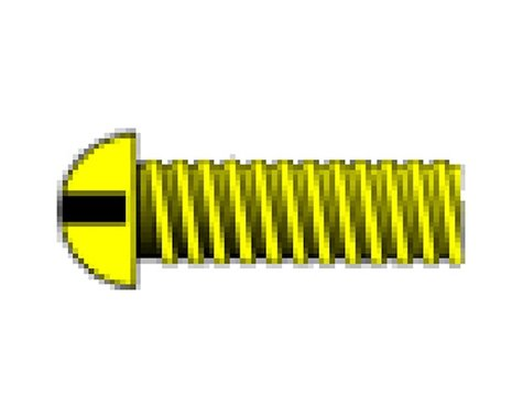 "Woodland Scenics 00-90 3/8"" Round Head Machine Screw (5)"
