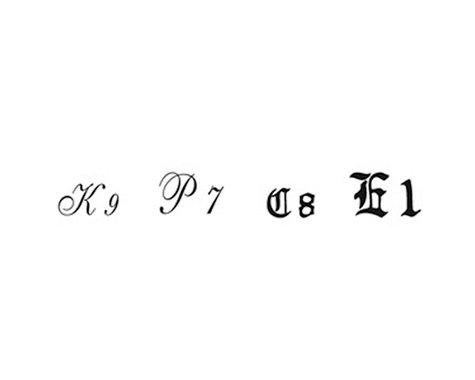 Woodland Scenics Script/Old English Letters, Black