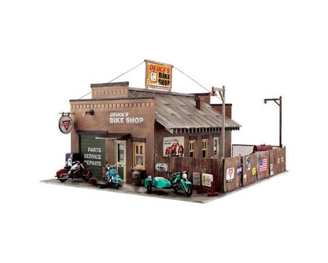Woodland Scenics HO KIT Deuce's Bike Shop