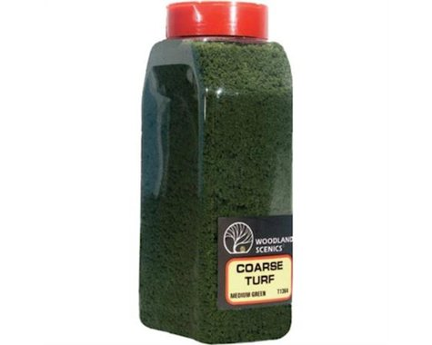 Woodland Scenics Coarse Blended Turf Shaker (Medium Green) (50 cu. in.)