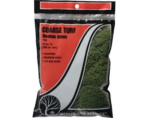 Woodland Scenics Coarse Turf Bag, Medium Green/18 cu. in.