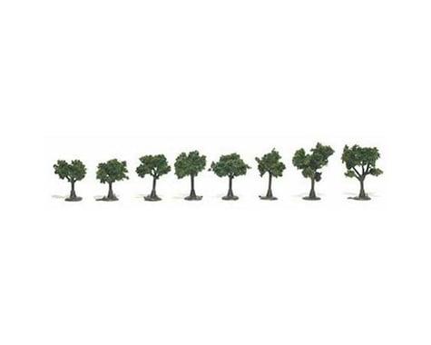 """Woodland Scenics Ready-Made Tree, Medium Green .75-1.25"""" (8)"""