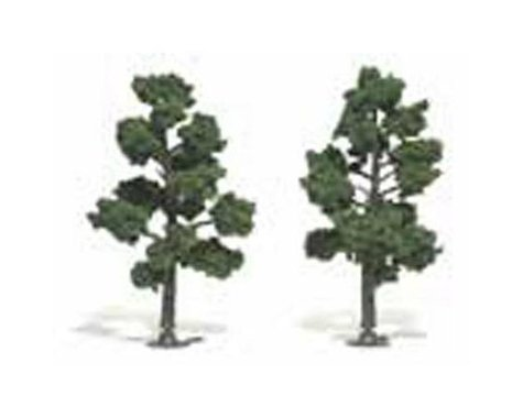 "Woodland Scenics Ready-Made Tree, Medium Green 5-6"" (2)"
