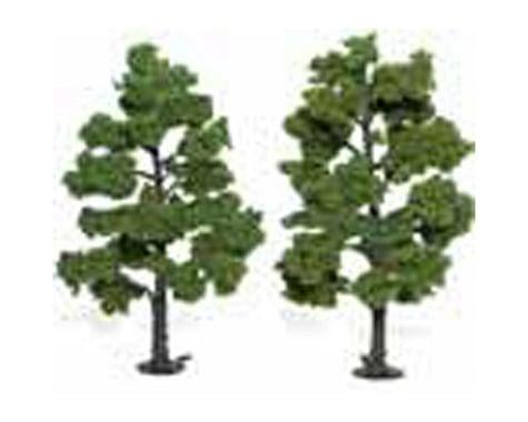 """Woodland Scenics Ready-Made Tree, Light Green 6-7"""" (2)"""