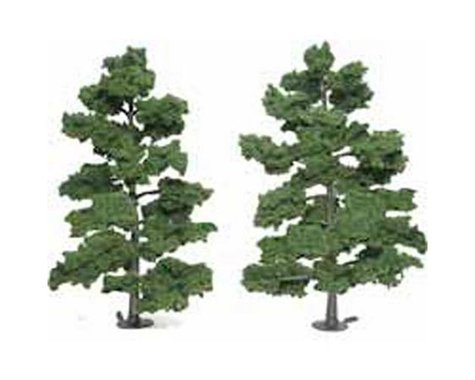 "Woodland Scenics Ready-Made Tree, Medium Green 8-9"" (2)"