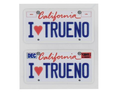 WRAP-UP NEXT REAL 3D U.S. Licence Plate (2) (I LOVE TRUENO) (11x50mm)
