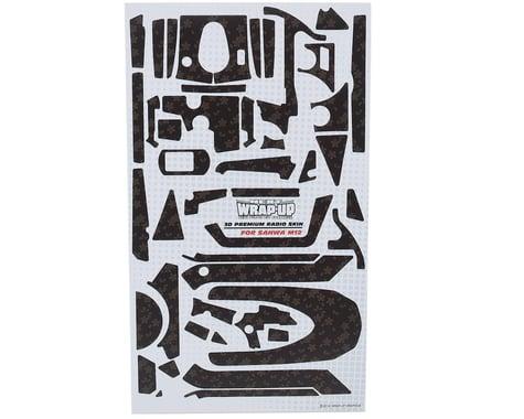 """WRAP-UP NEXT REAL 3D """"Carbon"""" Premium Transmitter Skin (Monogram) (Sanwa M12)"""