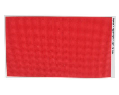 WRAP-UP NEXT REAL 3D Light Lens Decal (Red) (Block-Middle) (130x75mm)