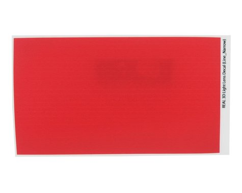 WRAP-UP NEXT REAL 3D Light Lens Decal (Red) (Line-Narrow) (130x75mm)