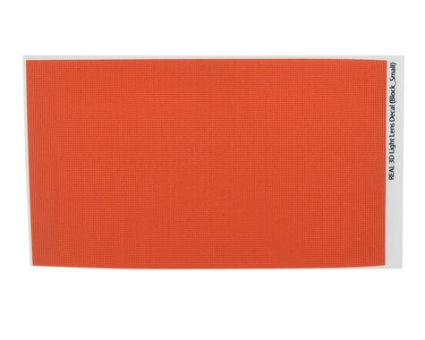 WRAP-UP NEXT REAL 3D Light Lens Decal (Orange) (Block-Small) (130x75mm)