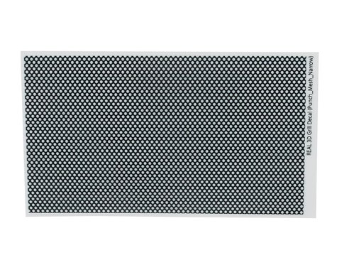 WRAP-UP NEXT REAL 3D Grill Decal (Punch- Mesh-Thin) (130x75mm)