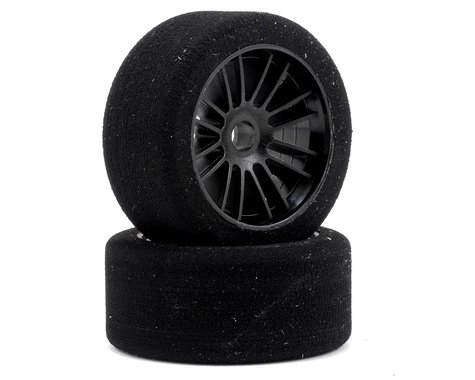 "Xceed RC ""Enneti"" World GT Carbon Carpet Front Tires (2) (Black) (40 Shore)"