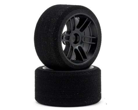 "Xceed RC ""Enneti"" 1/12 Carbon Carpet Front Tires (2) (Carbon Black) (35 Shore)"