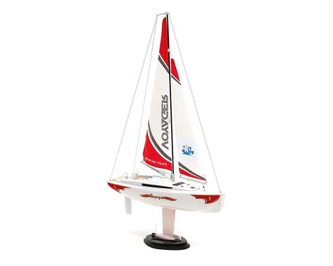 PlaySTEAM Voyager 280 Sailboat w/2.4GHz Transmitter (Red)