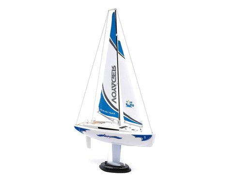SCRATCH & DENT: PlaySTEAM Voyager 280 Sailboat w/2.4GHz Transmitter (Blue)
