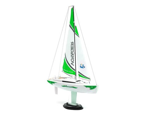 PlaySTEAM Voyager 280 Sailboat w/2.4GHz Transmitter (Green)