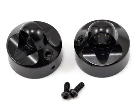 XRAY XB8 Aluminum Shock Cap Nut w/Vent Hole (Black) (2)