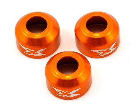 XRAY Aluminum Driveshaft Safety Collar (Orange) (3)