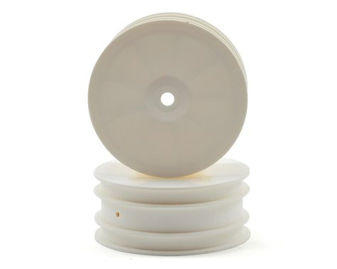 """XRAY 14mm Hex """"Aerodisk"""" 4WD Front Buggy Wheels (2) (White) (XB4)"""