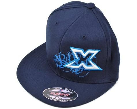 "XRAY ""Hip-Hop"" Flat Bill Flexfit Cap (Blue) (Blue) (L/XL)"
