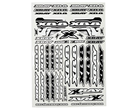 XRAY XB8 Sticker Sheet (White)