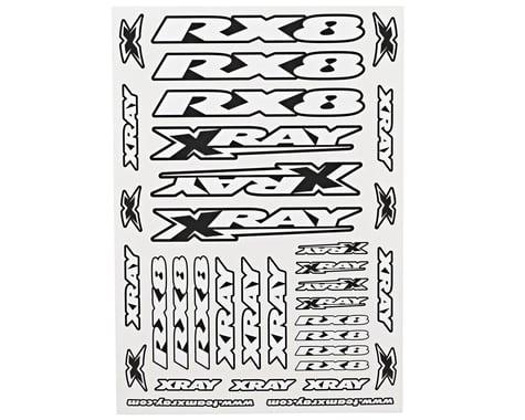 XRAY RX8 Sticker Sheet (White)