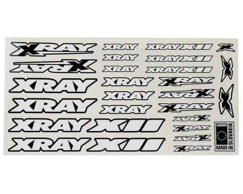XRAY X12 Sticker Sheet (White)