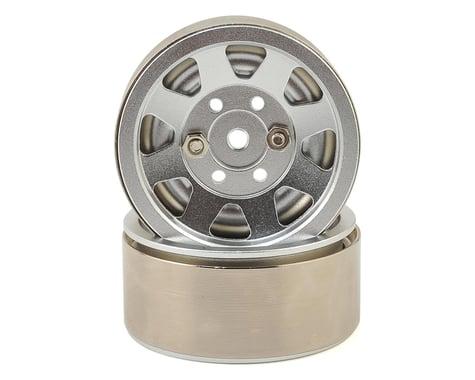 Xtra Speed 8 Spoke High Mass 1.9 Aluminum Beadlock Wheel (Silver) (2)