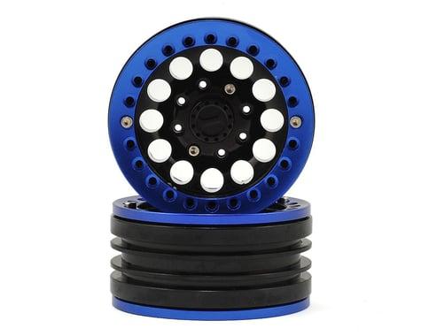Xtra Speed Aluminum 1.9 Iron Clock Mass Beadlock Wheel (Blue) (2)