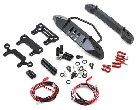 Yeah Racing Aluminum SCX10 Front & Rear Bumper Set w/Heavy Duty Shackle & LEDs