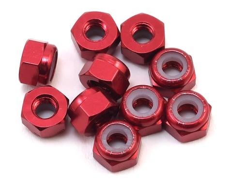 Yeah Racing 3mm Aluminum Lock Nut (10) (Red)