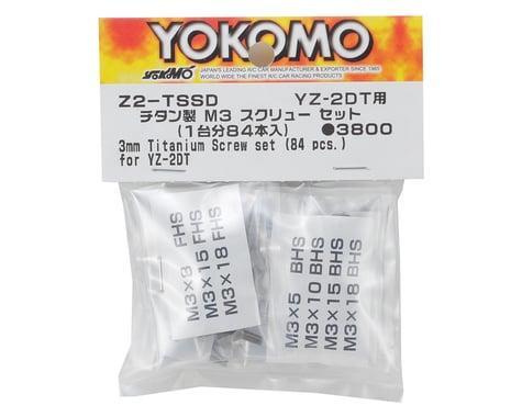 Yokomo M3 Titanium YZ-2 Dirt Screw Set (84 Pieces)