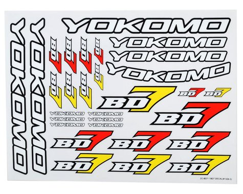 Yokomo BD7 Decal Sheet