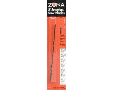 """Zona 5"""" Jewelers Saw Blades (.028 x .013 x 43TPI) (No."""