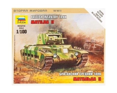 Zvezda 1/100 Matilda II British WWII Medium Tank