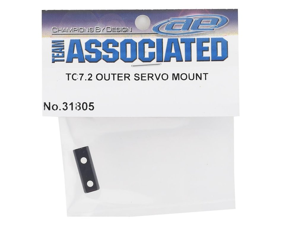 NEW Associated 31805 Outer Servo Mount Black Alum TC7.2 FREE US SHIP