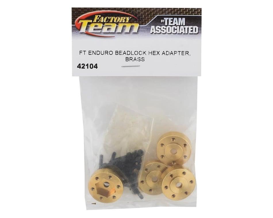 Associated Element Enduro RTR FT Enduro Beadlock Hex Adapters Brass ASC42104