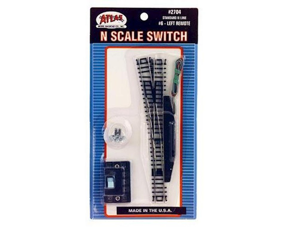 N Code 80 Nickel Silver #6 Manual Switch Left Atlas Trains Toys ...