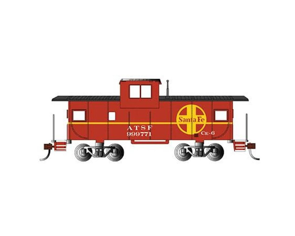 Santa Fe #999771 Ho Scale 36 Wide Vision Caboose Bachmann Red Prototypical Red