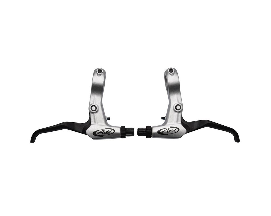 2 Finger V-Brake Lever Black Flippable Alloy MTB BMX with Adjustable Reach
