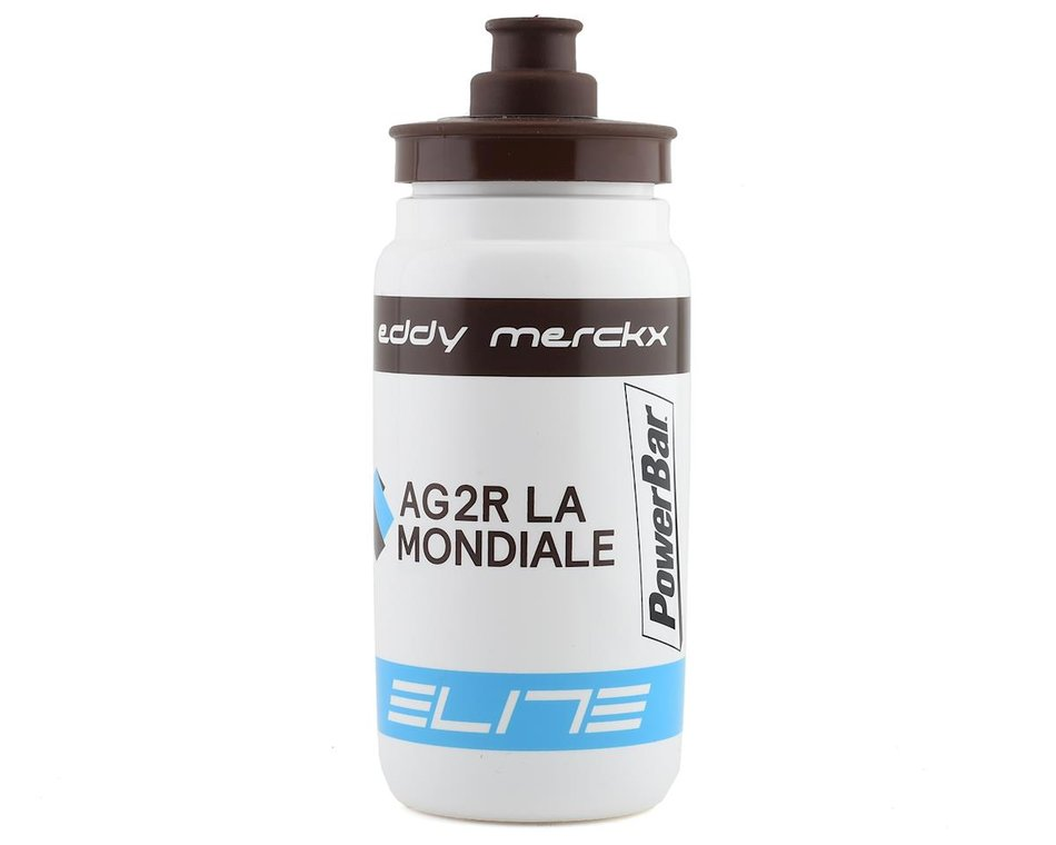 elite fly team water bottle ag2r white 550ml 01604190 accessories performance bicycle performance bicycle