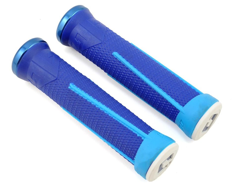 ODI AG1 Lock-On Grips Aaron Gwin 135mm Blue//Light Blue
