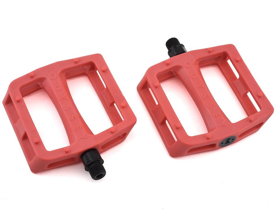 Odyssey Grandstand Bike Pedals 9//16 Bright Red