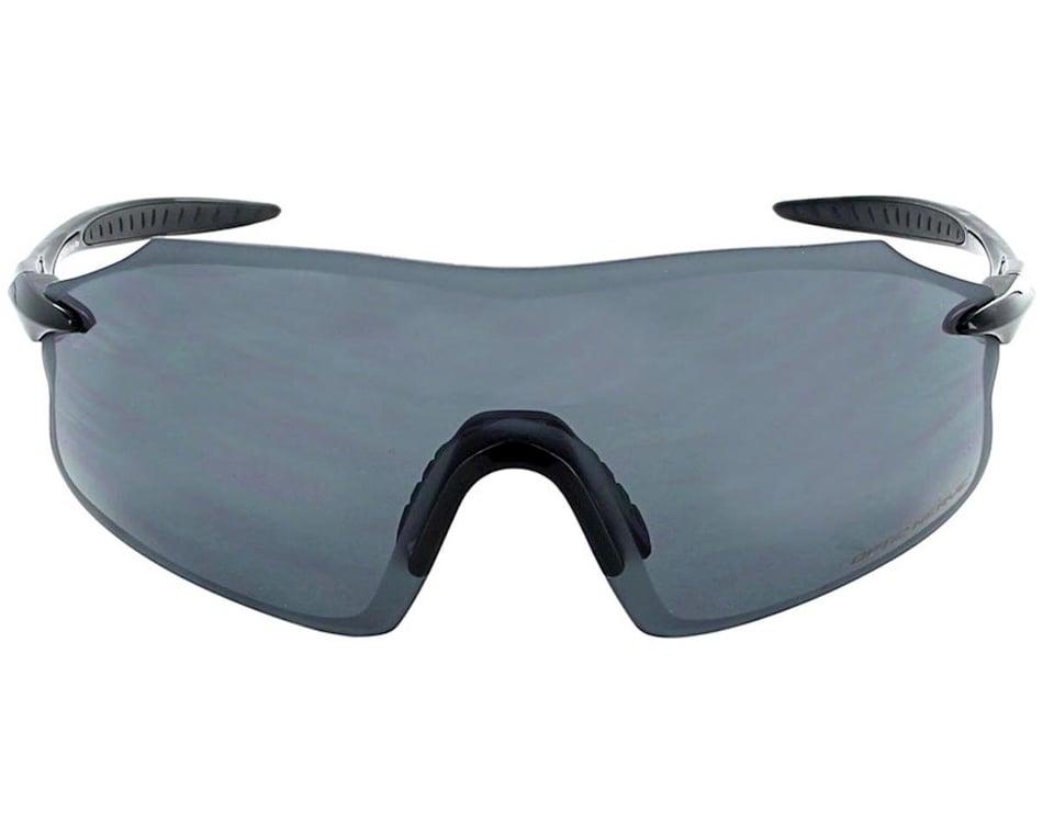Optic Nerve Fixie PRO Sunglasses Shiny White with Smoke Blue Bike Mirror Lens